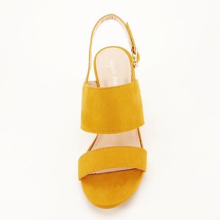 Sandale galbene cu toc comod Paloma [3]