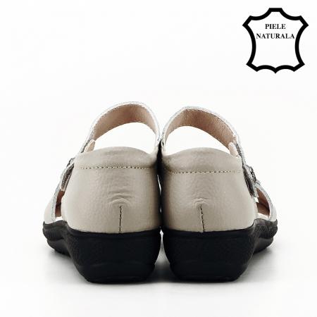 Sandale gri din piele naturala Agata4