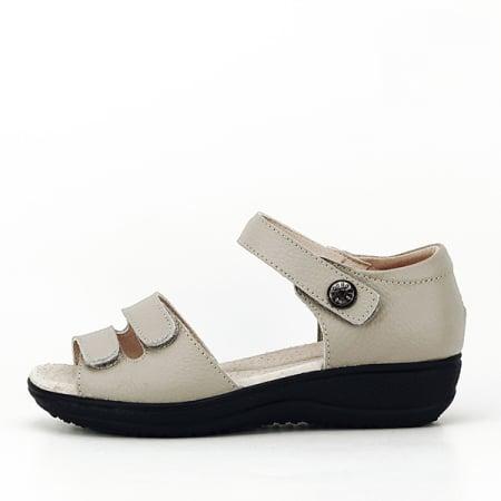 Sandale gri din piele naturala Agata0