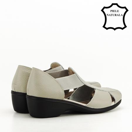 Sandale gri din piele naturala Calypso3