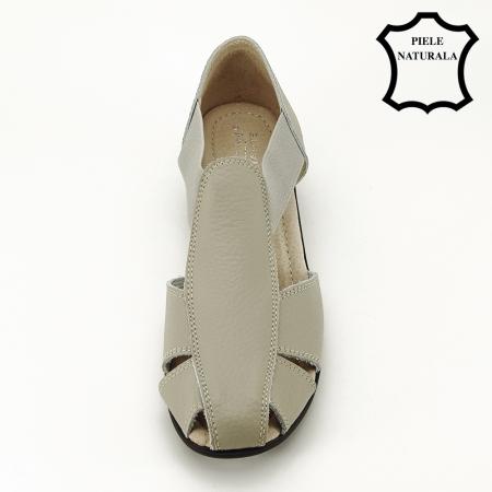 Sandale gri din piele naturala Calypso2