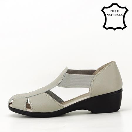 Sandale gri din piele naturala Calypso1