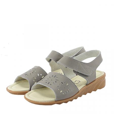 Sandale gri din piele naturala Catis0