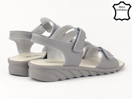 Sandale gri din piele naturala Iasmina5