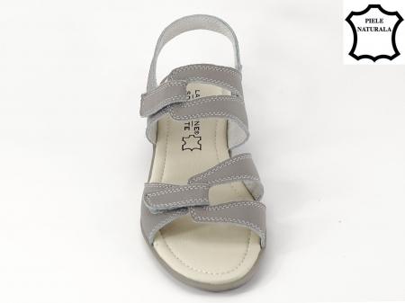 Sandale gri din piele naturala Iasmina4