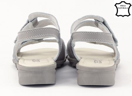 Sandale gri din piele naturala Iasmina6