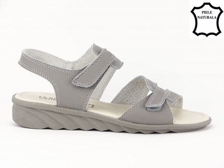 Sandale gri din piele naturala Iasmina1