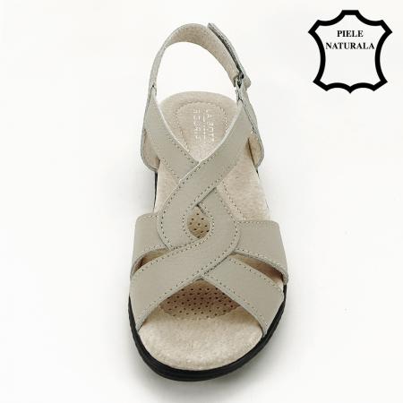 Sandale gri din piele naturala Mabel [1]