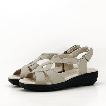 Sandale gri din piele naturala Mabel [0]