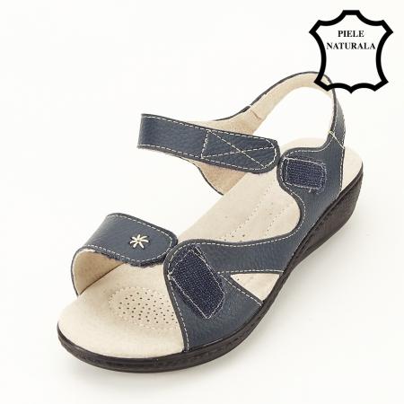 Sandale gri din piele naturala Sara8