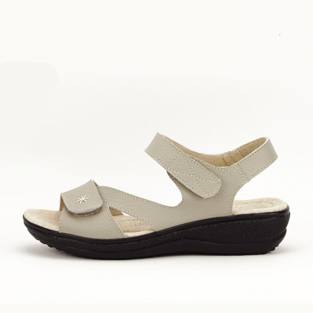 Sandale gri din piele naturala Sara0