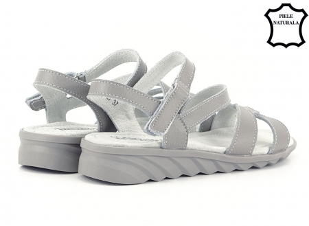 Sandale gri din piele naturala Suzana4
