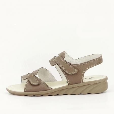 Sandale kaki din piele naturala Iasmina0