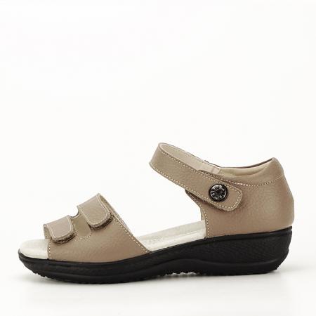 Sandale maro deschis din piele naturala Agata0