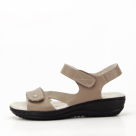 Sandale maro deschis din piele naturala Sara0