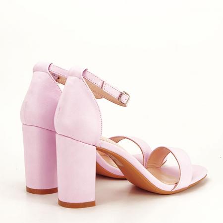 Sandale mov deschis cu toc gros Ingrid [4]