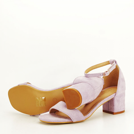Sandale mov din velur Lorena [6]