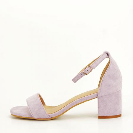 Sandale mov din velur Lorena [1]