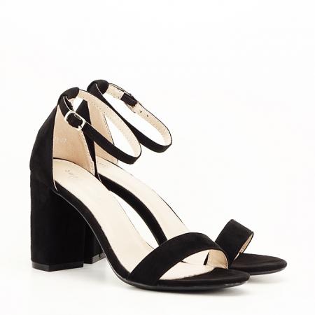 Sandale negre cu toc inalt Flavia [5]