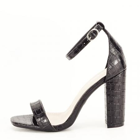 Sandale negre cu imprimeu Frida [0]