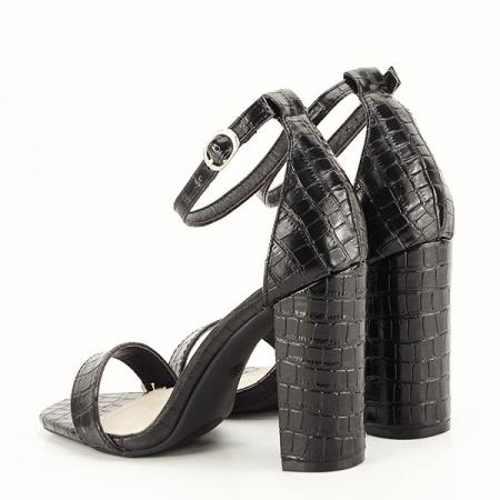 Sandale negre cu imprimeu Frida [3]