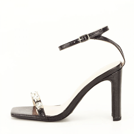Sandale negre cu imprimeu Lola [1]