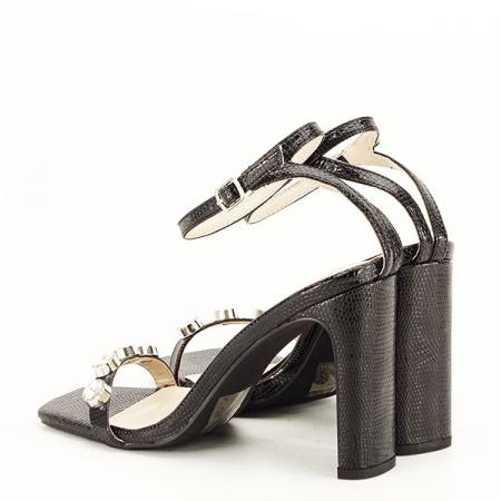 Sandale negre cu imprimeu Lola [4]
