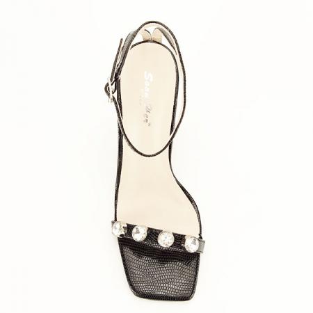 Sandale negre cu imprimeu Lola [3]