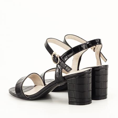 Sandale negre cu imprimeu Violeta [4]