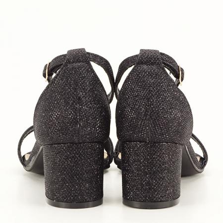 Sandale negre cu sclipici Miria [6]