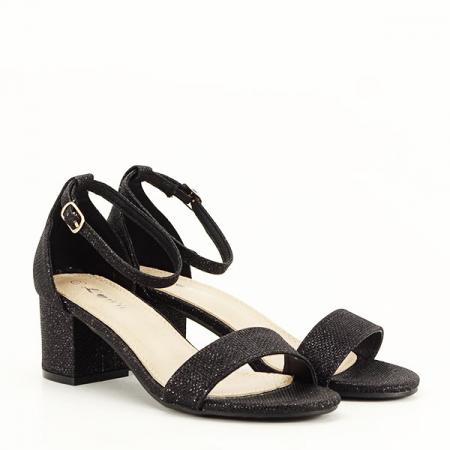 Sandale negre cu sclipici Miria [3]