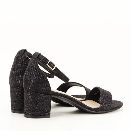 Sandale negre cu sclipici Miria [5]