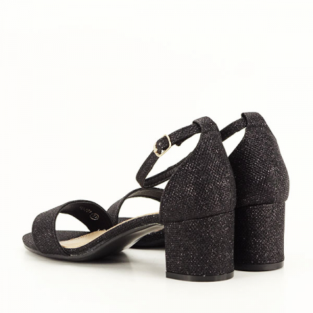 Sandale negre cu sclipici Miria [4]