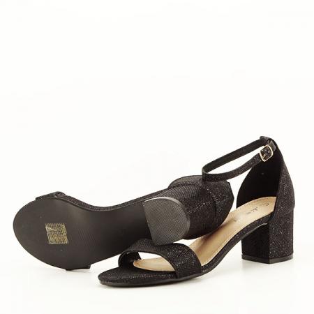 Sandale negre cu sclipici Miria [7]
