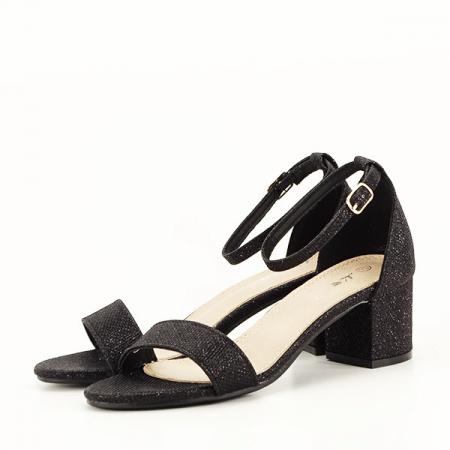 Sandale negre cu sclipici Miria [1]