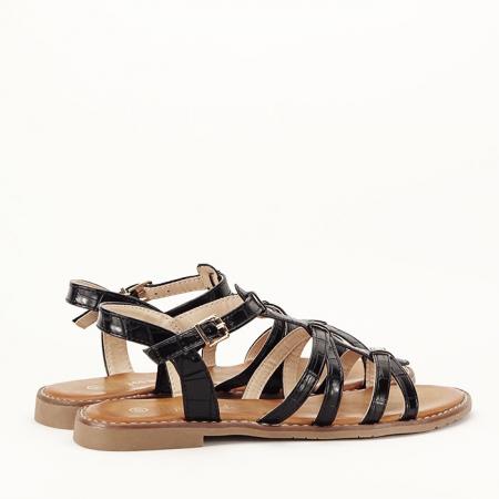Sandale negre cu talpa joasa Jeni [3]