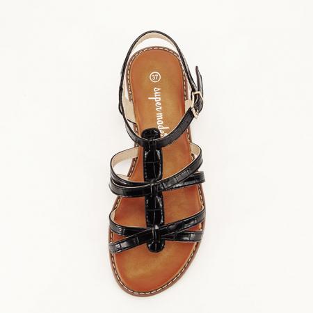 Sandale negre cu talpa joasa Jeni [2]