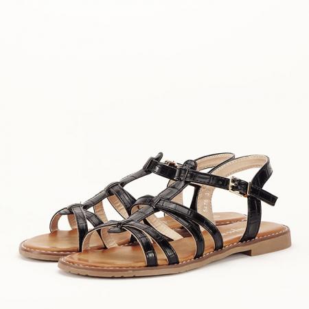 Sandale negre cu talpa joasa Jeni [0]