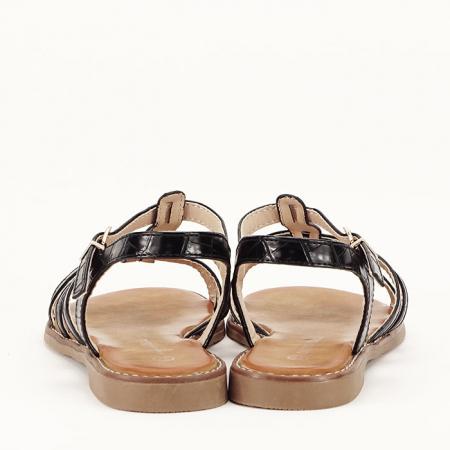 Sandale negre cu talpa joasa Jeni [4]