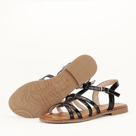 Sandale negre cu talpa joasa Jeni [5]