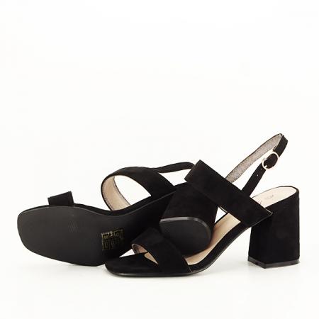 Sandale negre cu toc comod Erika [7]