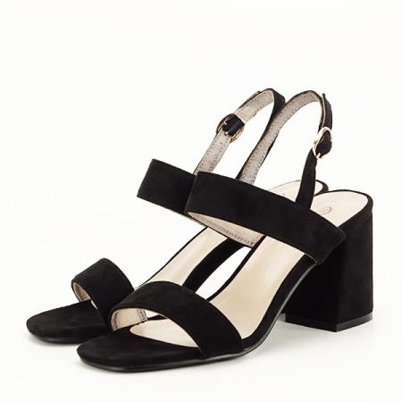 Sandale negre cu toc comod Erika [1]