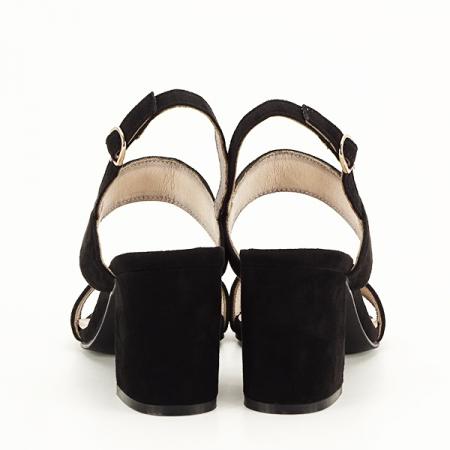 Sandale negre cu toc comod Erika [5]