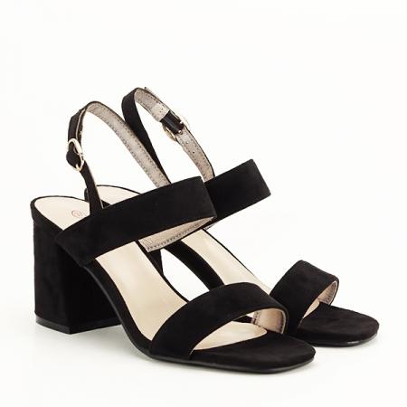 Sandale negre cu toc comod Erika [2]