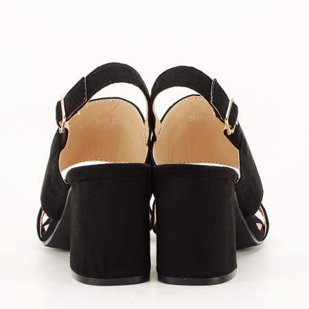 Sandale negre cu toc comod Paloma [3]