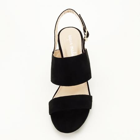 Sandale negre cu toc comod Paloma [4]