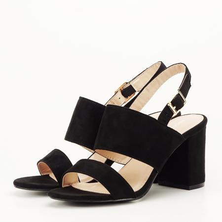 Sandale negre cu toc comod Paloma [1]