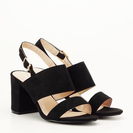 Sandale negre cu toc comod Paloma [5]