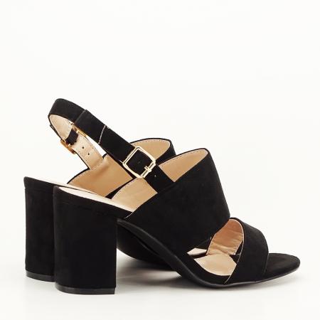 Sandale negre cu toc comod Paloma [2]