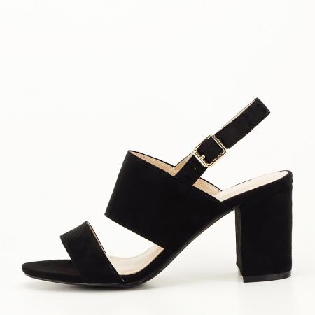 Sandale negre cu toc comod Paloma [0]